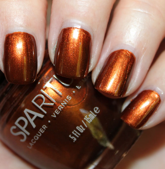 Nail Polish Colors Bronze: SpaRitual Running With-Wolves Super Rich Copper Color