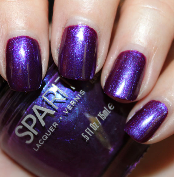 SpaRitual Purple Nail Polish With Brighter Blue And Pink