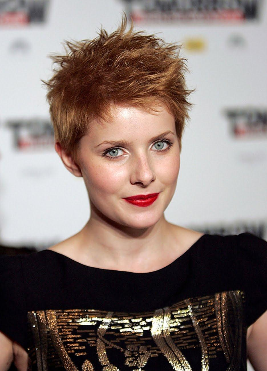 Rachel Hurd Wood Short Funnky Red Hairstyle