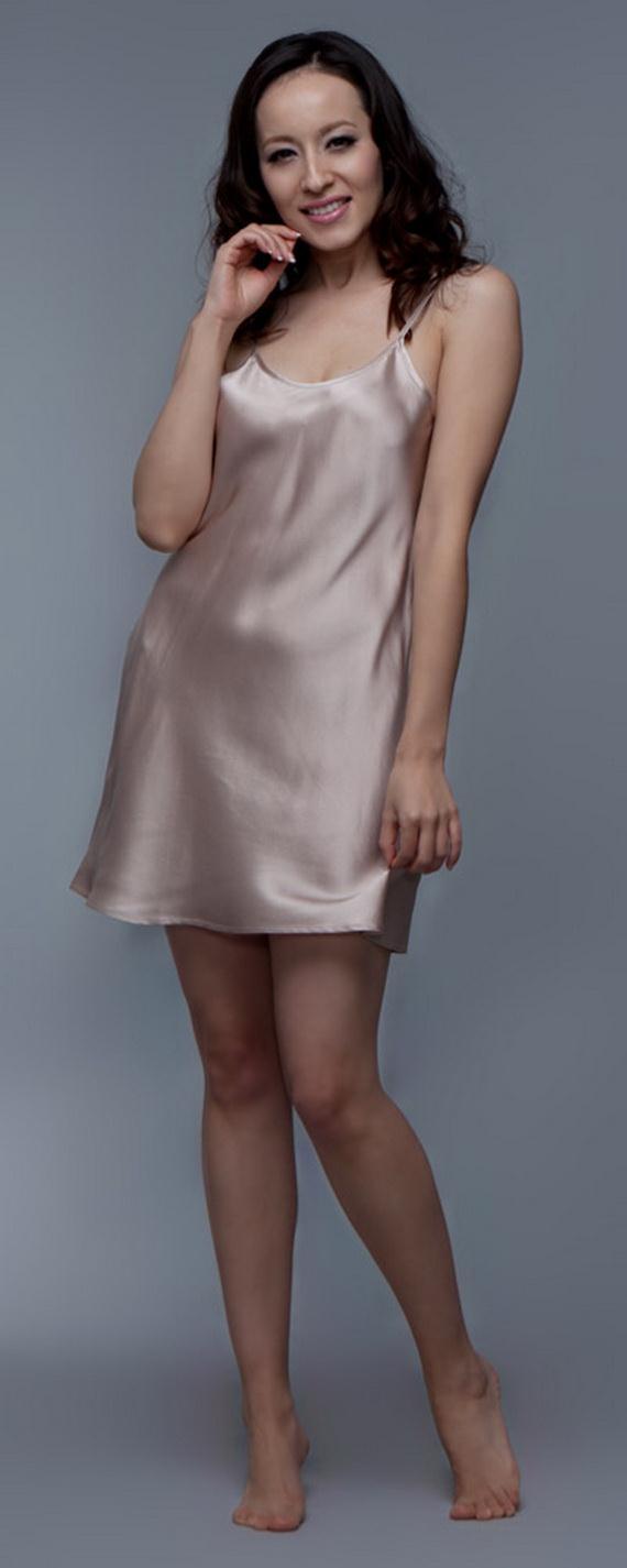 Silk Short Night Wear Nighty Dress 12 | She12: Girls
