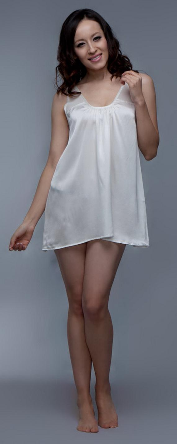 Silk Short Night Wear Nighty Dress 15