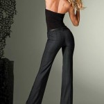 Victoria Secret Flare Trendy  Pants By Fit