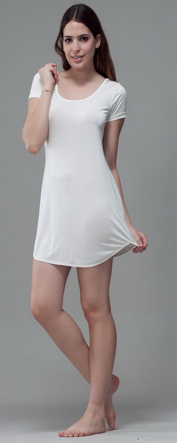 White Exquisitely Beautiful And Romantic Luxury Nighties