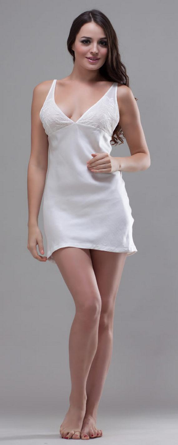White Exquisitely Beautiful And Romantic Luxury Nighties
