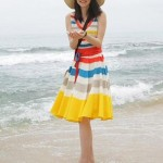 Colorful Beach Wear Lady Dress 2