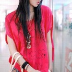 World Classic Fashion Shoulder Loose T-Shirts