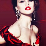 Felicity Jones Dolce & Gabbana Spring Cosmetic Campaign 2012