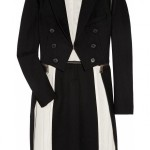 MCQ Adjustable Wool Blend Black white Coat 1