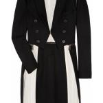 MCQ Adjustable Wool Blend Black white Coat 1