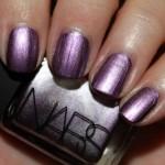 NARS Shimmery Metallic Silvery Purple Shade Nail Polish 2012