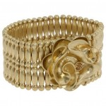 Jessica Simpson Stretch Able Gold Hand Clutch Bangles