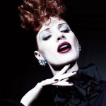 Jessica Chastain Updo Half Curly Hairstyle Shoots
