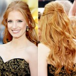 Jessica Chastain Blonde Soft Curls Hairstyle