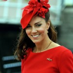 Kate Middleton In Red Dress And Hats On Diamond Jubilee