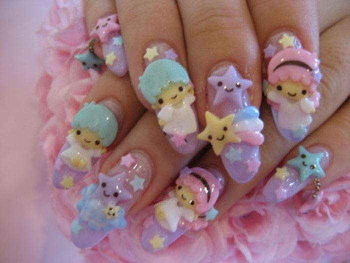 Hello Kitty 3d Nail Art She12 Girls Beauty Salon
