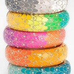 Eid Wear Colorful Metal Enameled Bangles For Girls  HUge collection 9