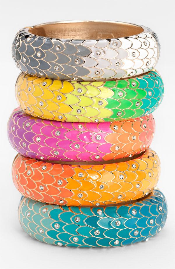 Eid Wear Colorful Metal Enameled Bangles For Girls