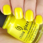 NOTW China Glaze Yellow Nail Lacquer in Sunkissed