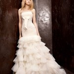 Vera Wang Bridesmaid White Bridal Prom Dress 2