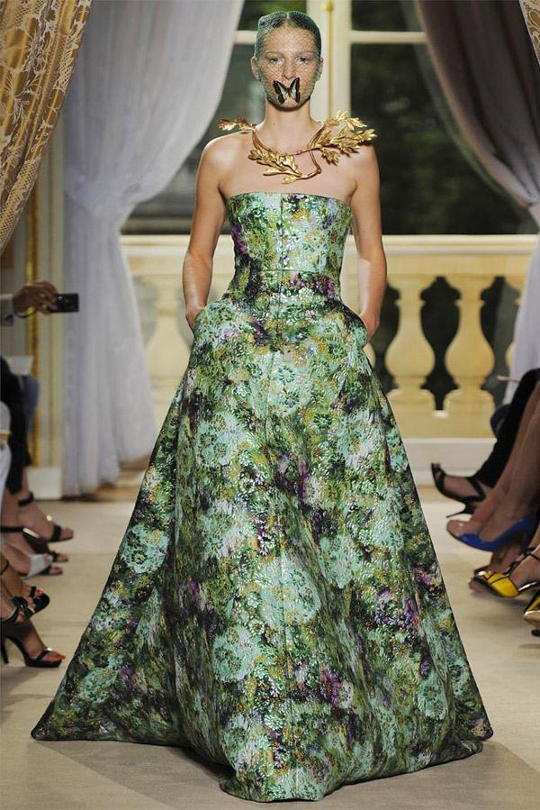 Giambattista Valli Haute Couture Green Flowery Freak Collection 16