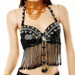 Imitated Silk Sequin Belly Dance Bra by Milanoo 10