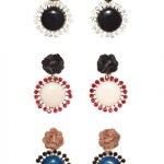 Marni Petal Acrylic & Studded Earrings