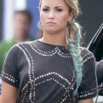 Demi Lovato Celebrity Party Wear Hairstyles