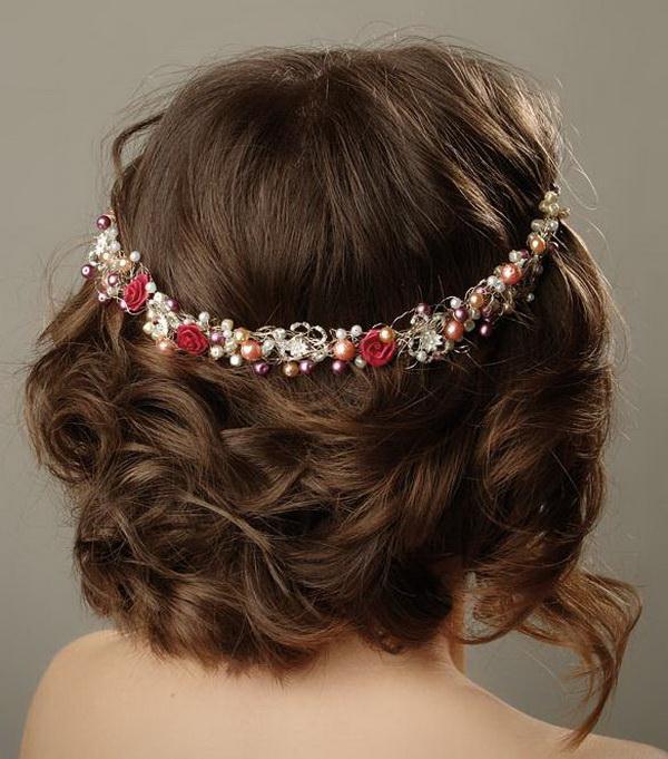 Wedding Day Hairstyles: Wedding Day Bridal Medium Hairstyles 2013