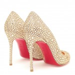 Fifi Louboutin Swarovski Crystal Pumps By Christian
