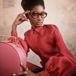 Melodie Monrose for Elle US April 2013