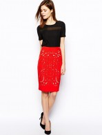 Streamlined High Top Pencil Skirt For Girls