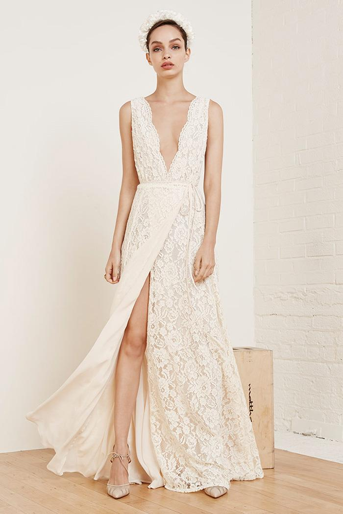 Dreamy Wedding Bridal dress By Reformation