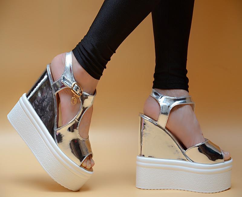 Utopia Lasered Espadrille Wedge Sandals
