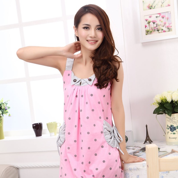 Soft Summer Milky Nightwear Dress