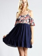 Summer Floral Midi Party Wear Short Dress