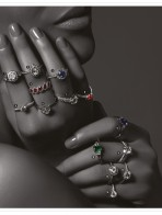 Precious Gems And Stone Diamond Rings For Girls